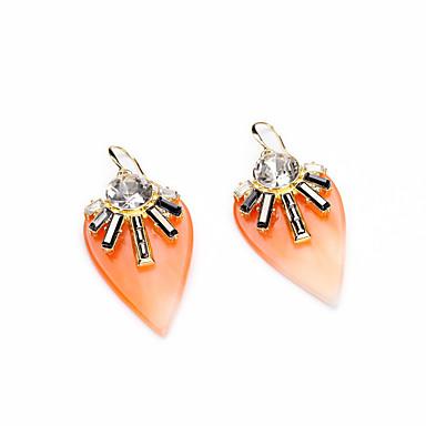 Kolczyki koła Kryształ Unikalny Osobiste euroamerykańskiej Black Orange Biżuteria Na Ślub Impreza Urodziny 1 para