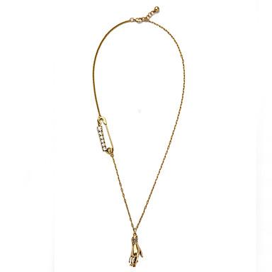 Kadın's Uçlu Kolyeler Mücevher Kişiselleştirilmiş Moda Altın Mücevher Için Parti Yılbaşı Hediyeleri 1pc