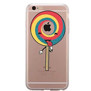 tok Για Apple iPhone 7 Plus iPhone 7 Διαφανής Με σχέδια Πίσω Κάλυμμα Παίζοντας με το λογότυπο της Apple Φαγητό Μαλακή TPU για iPhone 7