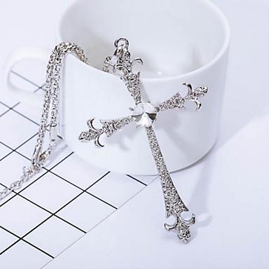 Miesten Risti Risti Riipus-kaulakorut Synteettinen timantti Riipus-kaulakorut , Päivittäin Kausaliteetti