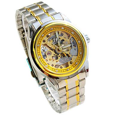 Heren mechanische horloges Kwarts Legering Band Zilver