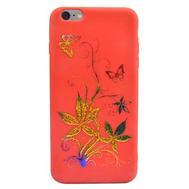 Etui Käyttötarkoitus iPhone 7 Plus iPhone 6s Plus iPhone 6 Plus Apple Koristeltu Kuvio Takakuori Perhonen Kukka Pehmeä TPU varten iPhone