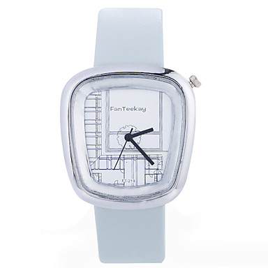 Ανδρικά Μοδάτο Ρολόι Ρολόι Καρπού Μοναδικό Creative ρολόι Καθημερινό Ρολόι Κινέζικα Χαλαζίας / ξύλινος Δέρμα Μπάντα Καθημερινό Απίθανο