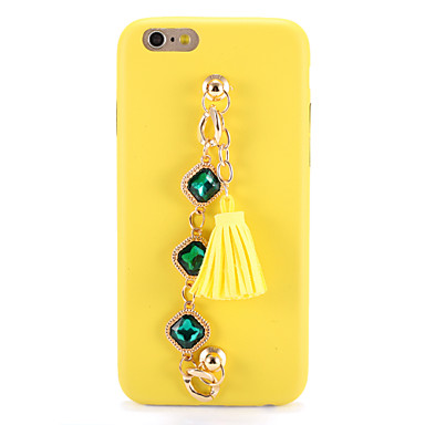 Na Etui Pokrowce DIY Etui na tył Kılıf Solid Color Miękkie Poliuretan termoplastyczny na AppleiPhone 7 Plus iPhone 7 iPhone 6s Plus