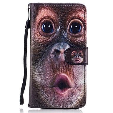 Maska Pentru Samsung Galaxy A5(2017) A3(2017) Titluar Card Portofel Cu Stand Întoarce Magnetic Model Carcasă Telefon Animal Greu PU piele