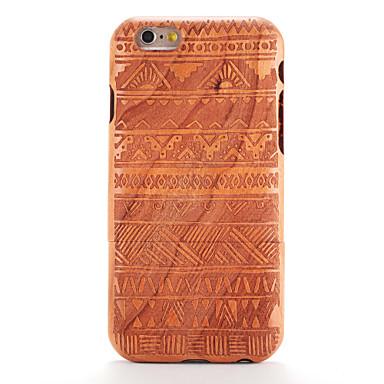 Elma için iphone 6 6s kabartma desenli durumda arka kapak durumda ahşap tahıl geometrik desen sert katı ahşap