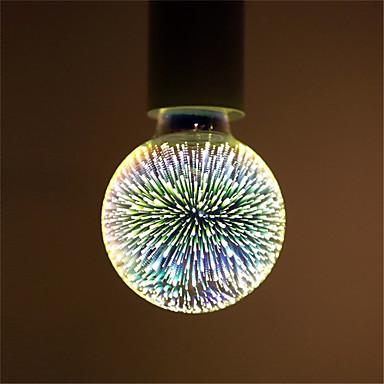 1pc 5 W 400lm E26 / E27 LED Λάμπες Πυράκτωσης LED Λάμπες Σφαίρα G95 28pcs LED χάντρες Ενσωματωμένο LED 3D πυροτεχνήματα Έναστρος