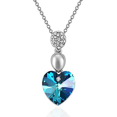 Pentru femei Coliere cu Pandativ Cristal Iubire Inimă La modă Personalizat EuramericanAlbastru Închis Mov Rosu Albastru Deschis Verde