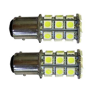 2pcs 1157 27 * 5050smd led λαμπάκι αυτοκινήτου λευκό φως dc12v
