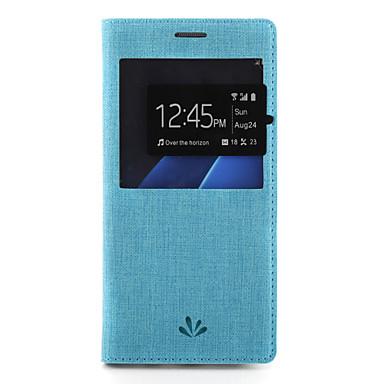 Maska Pentru Samsung Galaxy S7 edge S7 Titluar Card Cu Stand cu Fereastră Carcasă Telefon Culoare solidă Greu PU piele pentru S7 edge S7