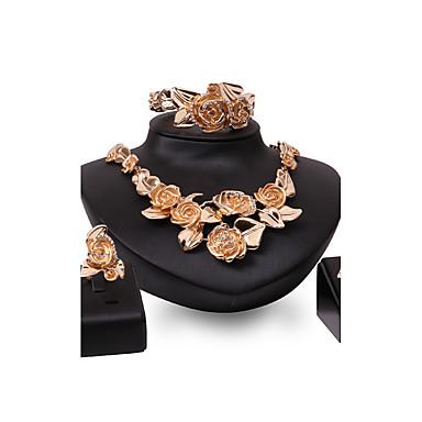 Pentru femei Seturi de bijuterii Ștras Ștras Placat Auriu Aliaj Altele Floare Personalizat Lux Euramerican Modă Nuntă Petrecere Ocazie