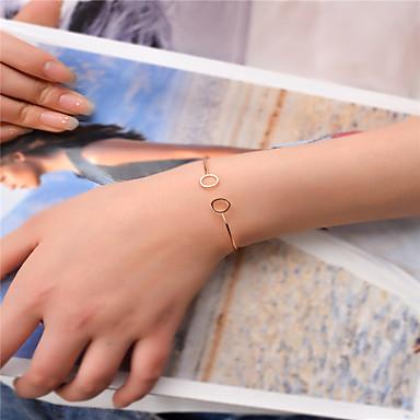 Γυναικεία Χειροπέδες Βραχιόλια Κοσμήματα Μοντέρνα Χαλκός Circle Shape Χρυσό Μαύρο Ασημί Κοσμήματα Για Πάρτι Ειδική Περίσταση 1pc