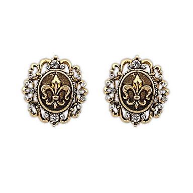 للمرأة أقراط الزر مجوهرات مخصص موضة euramerican في حجر الراين سبيكة مجوهرات مجوهرات من أجل زفاف مناسبة خاصة