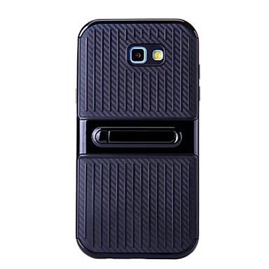 Hülle Für Samsung Galaxy A5(2017) A3(2017) mit Halterung Rückseite Volltonfarbe Hart TPU für A3 (2017) A5 (2017) A7 (2017)