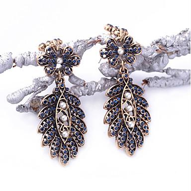 Halka Küpeler Kristal Moda Kişiselleştirilmiş Euramerican Mavi Mücevher Için Düğün Parti Doğumgünü 1 çift
