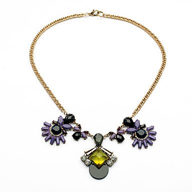 Pentru femei Toroane Coliere Flower Shape Personalizat Cute Stil Mov Bijuterii Pentru 1 buc