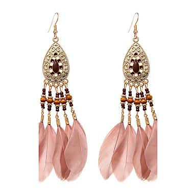 Dames Druppel oorbellen Sieraden Klassiek Standaard Bruids Gesneden Aanbiddelijk Turks Veer Wings Sieraden Bruiloft Feest Speciale
