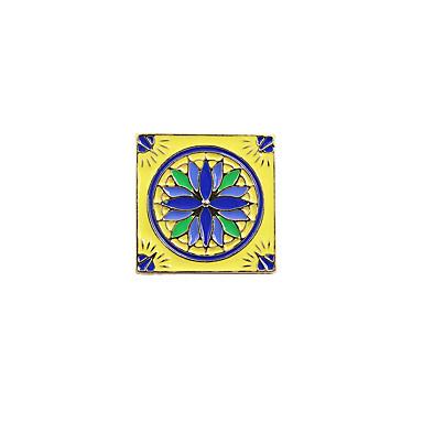Pentru femei Broșe Design Unic Boem Pătrat Email Aliaj Pătrat Verde Bleumarin Albastru-Galben Alb/Negru Bleumarin Bijuterii Pentru Nuntă