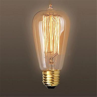 Ac110 / 220v 60w st64 Retro- Edison ziehen Spitze Wasser kreative Pers5onlichkeit Wolfram Glühlampe 1pcs