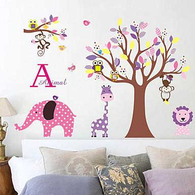Tiere Botanisch Cartoon Design Wand-Sticker Flugzeug-Wand Sticker Dekorative Wand Sticker,Papier Stoff Haus Dekoration Wandtattoo