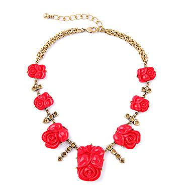 Γυναικεία Κολιέ με Αλυσίδα Κρυστάλλινο Εξατομικευόμενο Euramerican μινιμαλιστικό στυλ Μοντέρνα Κόκκινο Κοσμήματα Για Γάμου Πάρτι 1pc