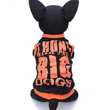 Σκύλος Veste Ρούχα για σκύλους Χαριτωμένο Καθημερινά Κινούμενα σχέδια Μαύρο Στολές Για κατοικίδια