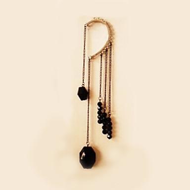 Γυναικεία Χειροπέδες Ear Συνθετικό ζαφείρι Πετράδι Φυσικό Μαύρο Με Χάντρες Συνθετικοί πολύτιμοι λίθοι Ρητίνη Κράμα Κοσμήματα Γάμου Πάρτι