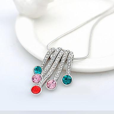 Pentru femei Coliere cu Pandativ Cristal stil minimalist La modă Personalizat Euramerican Alb Curcubeu Rosu Bijuterii PentruNuntă