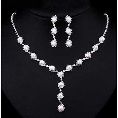 Γυναικεία Σετ Κοσμημάτων Coliere cu Perle Cubic Zirconia Απομίμηση Μαργαριτάρι Κράμα Κυκλικό Multi-τρόπους Wear Μοντέρνα Γάμου Πάρτι