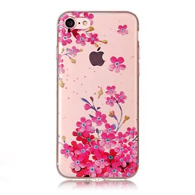 Pentru Apple iPhone 7 7 plus 6s 6 plus se 5s 5 5c caz acoperă prună floare model hd pictat tpu material imd proces caz telefon