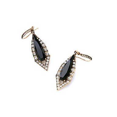 Halka Küpeler Eşsiz Tasarım Moda Kişiselleştirilmiş Geometric Shape Siyah Mücevher Için Düğün Parti 1 çift
