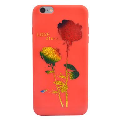 Na Etui Pokrowce Wytłaczany wzór Wzór Etui na tył Kılıf Napis Kwiat Miękkie TPU na Apple iPhone 7 Plus iPhone 6s Plus iPhone 6 Plus