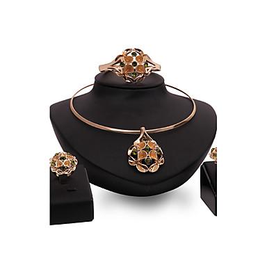 Damskie Zestawy biżuterii Multi-kamień Rhinestone Spersonalizowane Luksusowy Vintage Modny euroamerykańskiej Wyrazista biżuteria Impreza