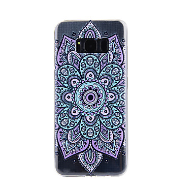 غطاء من أجل Samsung Galaxy S8 Plus S8 شفاف نموذج مطرز غطاء خلفي ماندالا نمط ناعم TPU إلى S8 Plus S8 S7 edge S7 S5