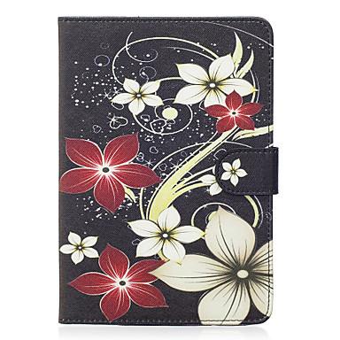 Für Apfel ipad mini 4 3 2 1 Fall Abdeckung Blumenmuster gemalt Karte Stent Brieftasche PU Haut Material flache Schutzhülle