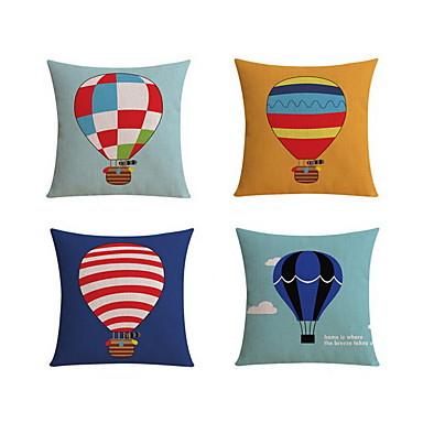 4.0 kpl Pellava Erikoistyyny Tyynyliina Body-tyyny Matkatyyny sohva tyyny,Asetelma Graafiset tulosteetModerni/nykyaikainen Rento