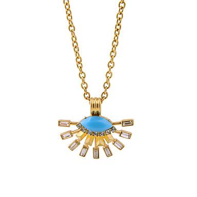 Damskie Naszyjniki z wisiorkami Kryształ Modny Osobiste euroamerykańskiej minimalistyczny styl Yellow Biżuteria Na Ślub Impreza 1szt