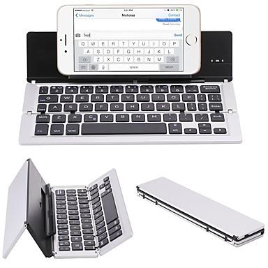 F18 kannettava ohut taittuva alumiiniseoksesta Bluetooth 3.0 langaton näppäimistö matkapuhelimeen tablet pc