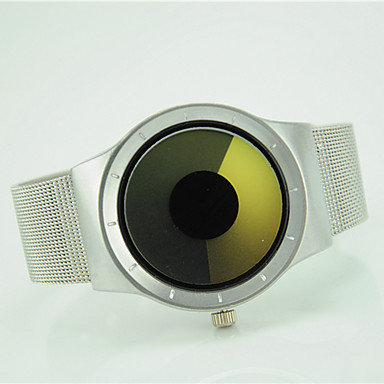 Damen Armbanduhr Modeuhr Quartz Armbanduhren für den Alltag Legierung Band Cool Silber
