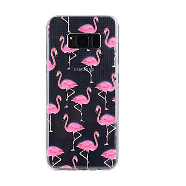 Maska Pentru Samsung Galaxy S8 Plus S8 Transparent Embosat Model Carcasă Spate Flamingo Moale TPU pentru S8 S8 Plus S7 edge S7 S5
