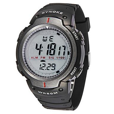 Heren Modieus horloge Digitaal horloge Digitaal Rubber Band Zwart