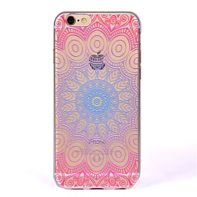 Hülle Für Apple iPhone 7 Plus iPhone 7 IMD Transparent Rückseite Mandala Weich TPU für iPhone 7 Plus iPhone 7 iPhone 6s Plus iPhone 6s