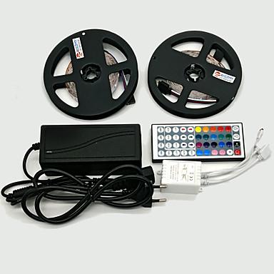 ZDM® 2x5M Lichtsets 300 LEDs 5050 SMD 1 12V 6A Adapter / 1 44Tastenfernbedienung RGB Schneidbar / Dekorativ / Selbstklebend 12 V 1 set