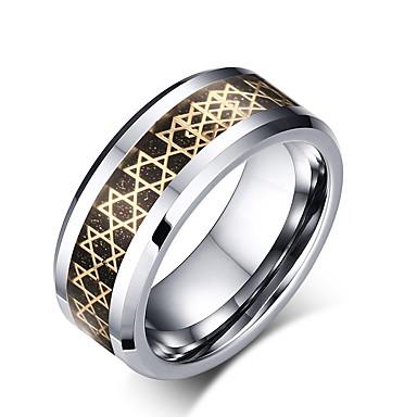 Herrn Ring Verschiedene Farben Wolframstahl Kreisförmig Kreisform Geometrische Form Personalisiert Grundlegend Euramerican Modisch Simple