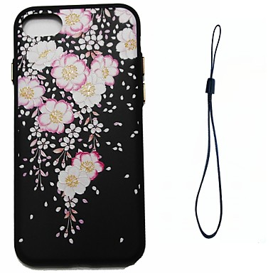 Pentru Apple iPhone 7 7 plus 6s 6 plus se 5s 5 caz acoperă model de floare injecție de combustibil injecție de umplere buton mai groase
