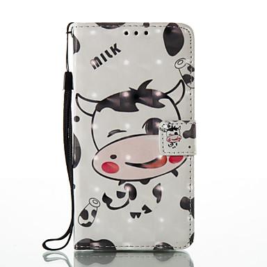 Etui Käyttötarkoitus Huawei P9 Lite Huawei Korttikotelo Lomapkko Tuella Flip Kuvio Suojakuori 3D sarjakuva Kova PU-nahka varten Huawei P9