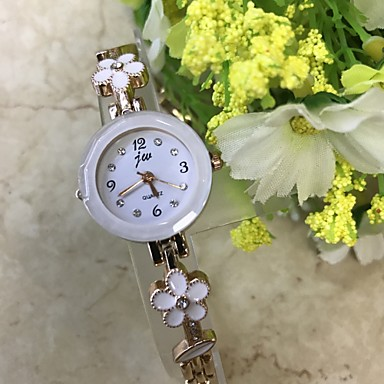 Dames Polshorloge Armbandhorloge Gesimuleerd Diamant Horloge Modieus horloge Chinees Kwarts / imitatie Diamond Legering Band Bloem