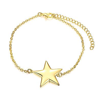 Naisten Tyttöjen Ranneketjut Kristalli Friendship Muoti Vintage Gold Plated Star Shape Korut Käyttötarkoitus Häät Party Erikoistilaisuus