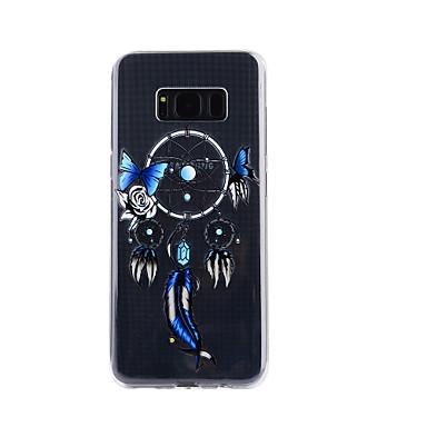 hoesje Voor Samsung Galaxy S8 Plus S8 Transparant Reliëfopdruk Patroon Achterkantje Dromenvanger Zacht TPU voor S8 S8 Plus S7 edge S7 S5