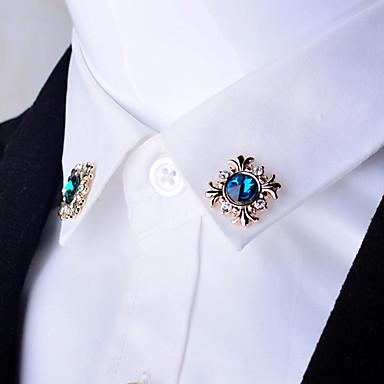 Erkek Kadın Diğer Broşlar Sentetik yakut Kişiselleştirilmiş Eşsiz Tasarım Euramerican Altın Kaplama alaşım Krzyż Mücevher Uyumluluk Günlük